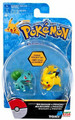 Pokemon 2 Pack Plastic Figures - Bulbasaur vs. Pikachu