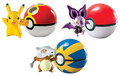 Pokemon Pack of 3 Pokeball Pikachu, Noibat, Cubone