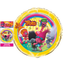 "Trolls Movie 18"" Round Foil Helium Metallic Balloon"
