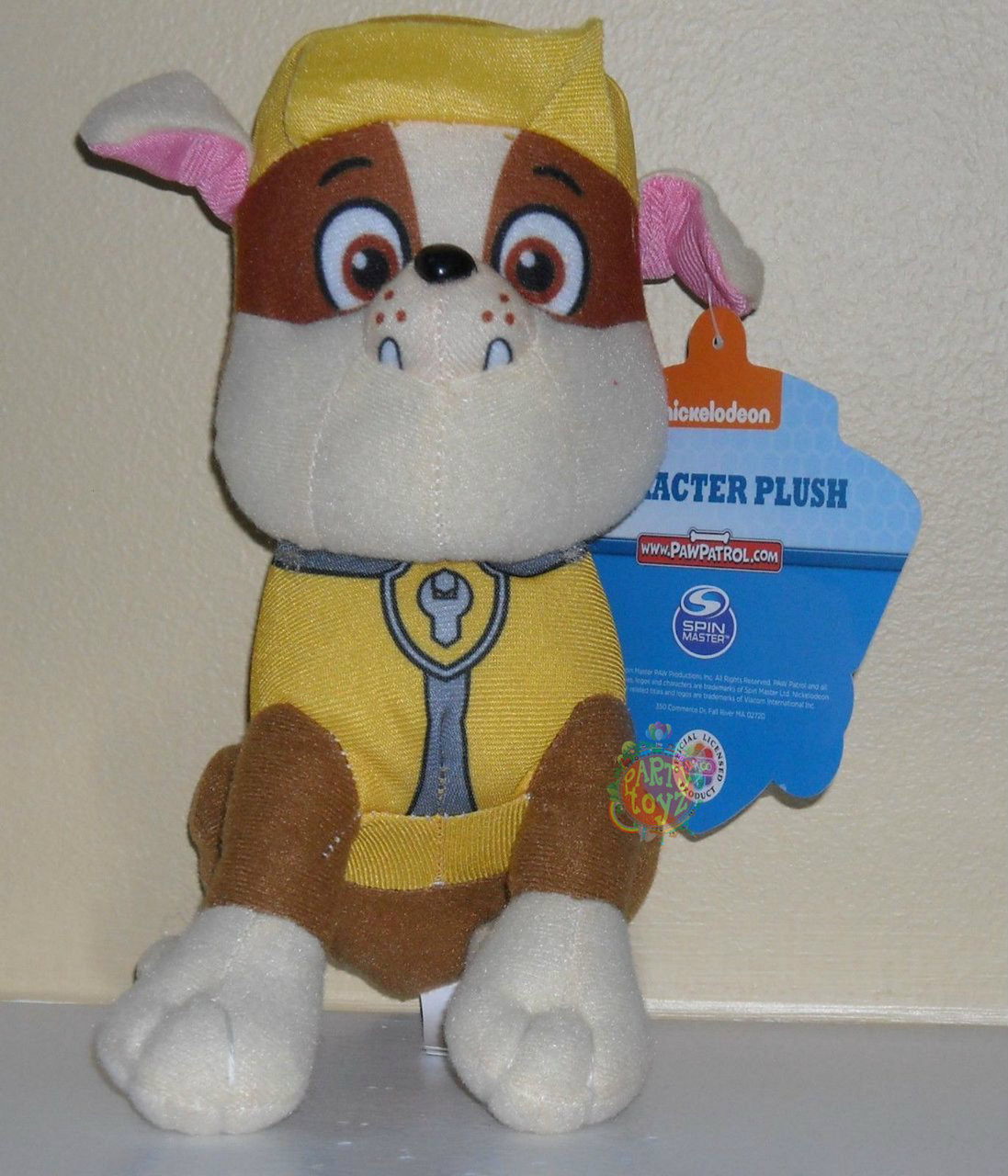 Paw Patrol Small 8 Inch Character Plush - Rubble