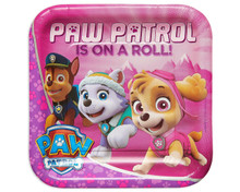 Paw Patrol 9 Inch Large Lunch Plate - Is on a Roll