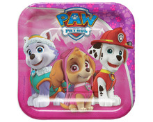 Paw Patrol 7 Inch Small Party Cake Dessert Plate - Pink