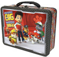 """Paw Patrol Square Carry All Tin Lunch Stationery Box - """"No Pup too Small"""""""