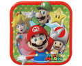 Super Mario Bros. Small 7 Inch Party Cake Dessert Plates - Stars