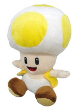 "Super Mario Brothers Yellow Toad 7"" Plush Toy Stuffed Animal"