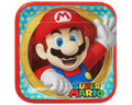 Super Mario Bros. Large 9 Inch Dinner Plates - Stars