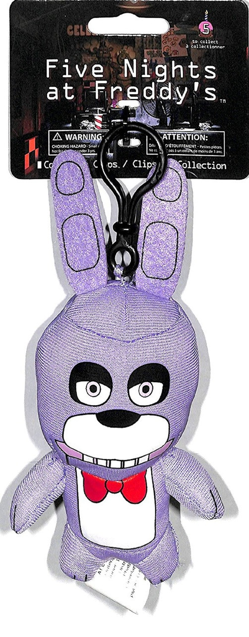 Five Nights At Freddy's 5 Inch Collector Plush Clip Toy Figure - Bonnie