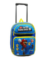 "Mario Brothers Large 16"" Rolling Backpack Bag - Blue Coins"