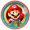 Super Mario Bros. Large 9 Inch Dinner Lunch Round Plates  - Mario