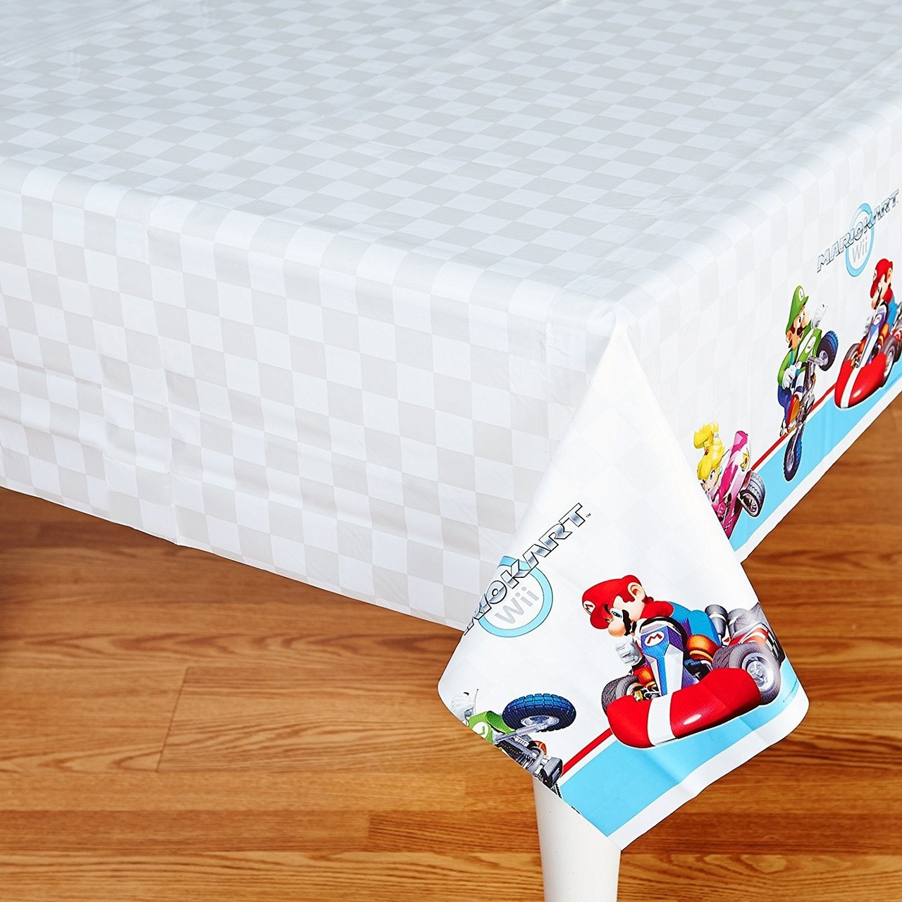 Partytoyz & Super Mario Bros Plastic Table Cover Tablecover - Mario Kart Wii