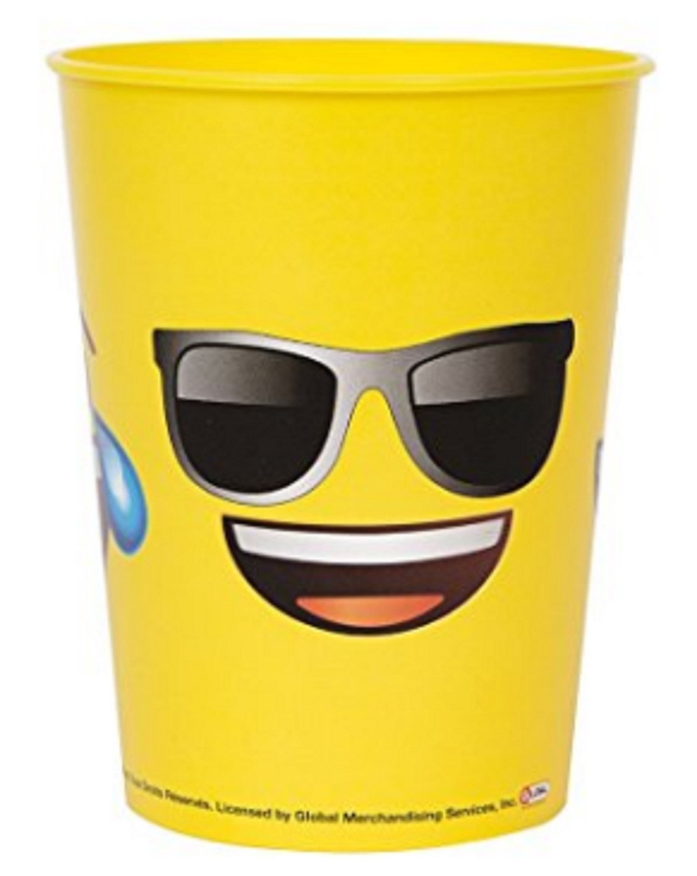 Emoji Faces Plastic 16 Ounce Reusable Keepsake Favor Cup (1 Cup)