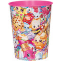 "12X Shopkins ""Collection"" Plastic 16 Ounce Reusable Keepsake Favor Cup ( 12 Cups )"