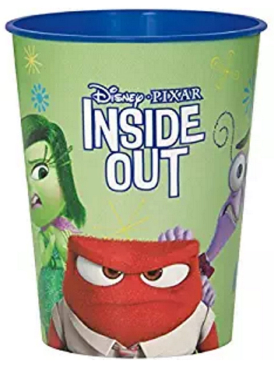 Inside Out Green Plastic 16 Ounce Reusable Keepsake Favor Cup (1 Cup)