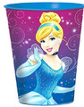 Princess Cinderella Sparkle Plastic 16 Ounce Reusable Keepsake Favor Cup (1 Cup)