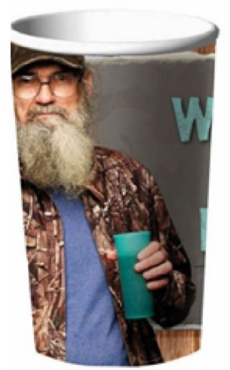 Duck Dynasty Plastic 22 Ounce Reusable Keepsake Favor Cup Si ( 1 Cup )