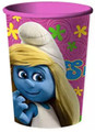 The Smurfs Pink Plastic 16 Ounce Reusable Keepsake Favor Cup (1 Cup)