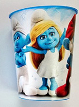 The Smurfs Clumsy Plastic 16 Ounce Reusable Keepsake Favor Cup (1 Cup)