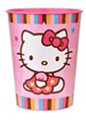 Hello Kitty Plastic 16 Ounce Reusable Keepsake Favor Cup (1 Cup)