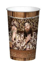 Duck Dynasty Brown Plastic 22 Ounce Reusable Keepsake Favor Cup ( 1 Cup )