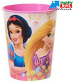 Princess Ariel Snow White Plastic 16 Ounce Reusable Keepsake Favor Cup (1 Cup)
