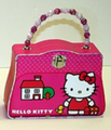 Hello Kitty Satchel Carry All Tin Purse with Beaded Handle - House