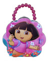 Dora the Explorer Tin Box Carry All Flower Shaped Purse - Pink