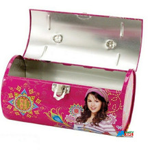 """Wizards of Waverly Place Round Carry All Tin Box - Hot Pink """"Alex"""""""