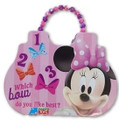 Minnie Mouse Beaded Clutch Tin Purse or Small Lunch Box - Pink