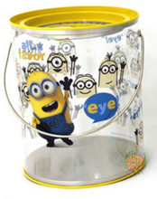"Despicable Me Minions Clear Paint Canister with Tin Lid - ""Eye"""