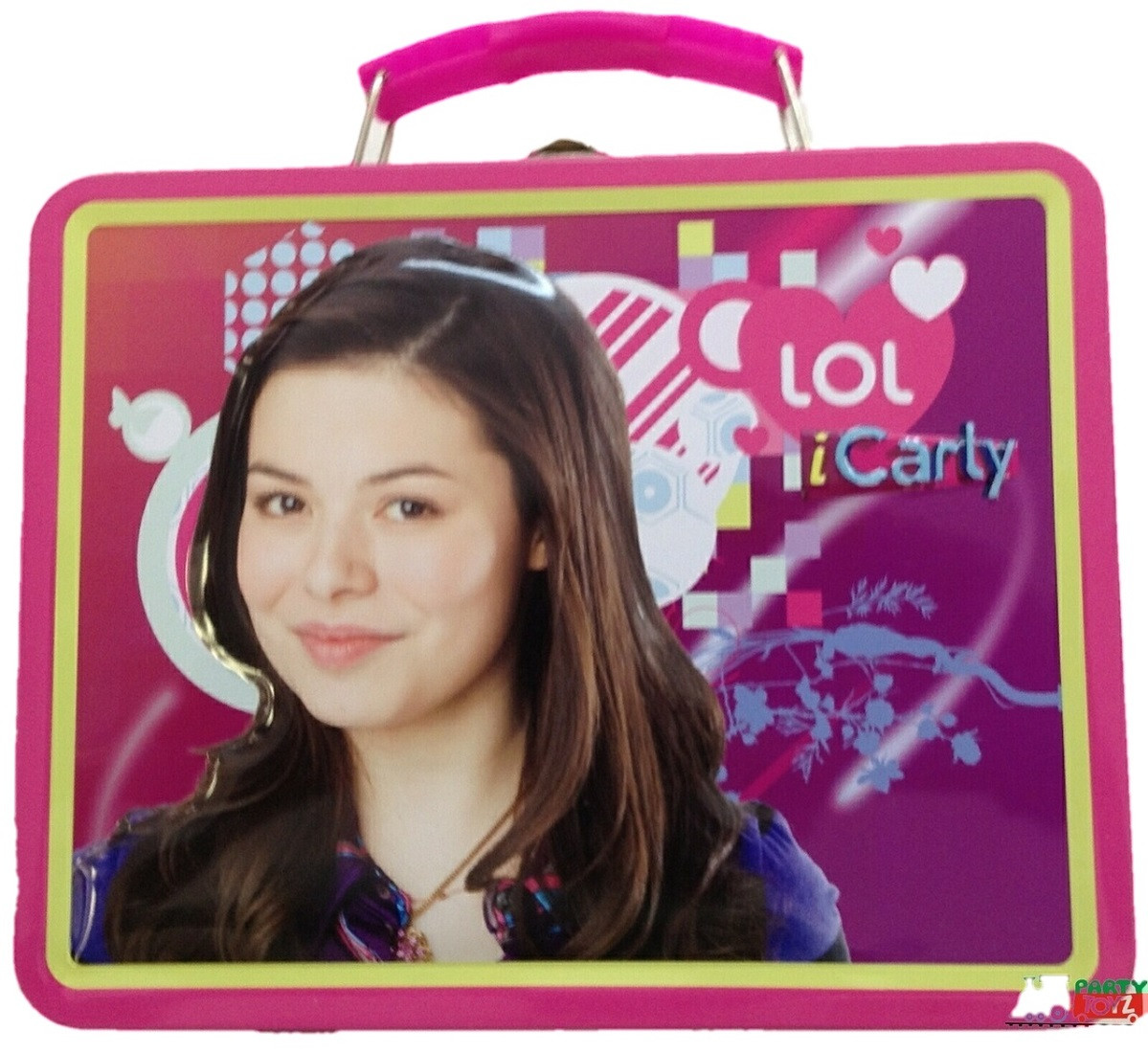 iCarly Square Carry All Tin Stationery Lunch Box - Pink