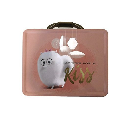 The Secret Life Of  Pets Lunch Box Tin Box - At Risk For A Kiss