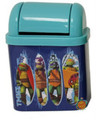 "Teenage Mutant Ninja Turtles Desktop Waste Bin Tin - ""Sewer Surfin"""