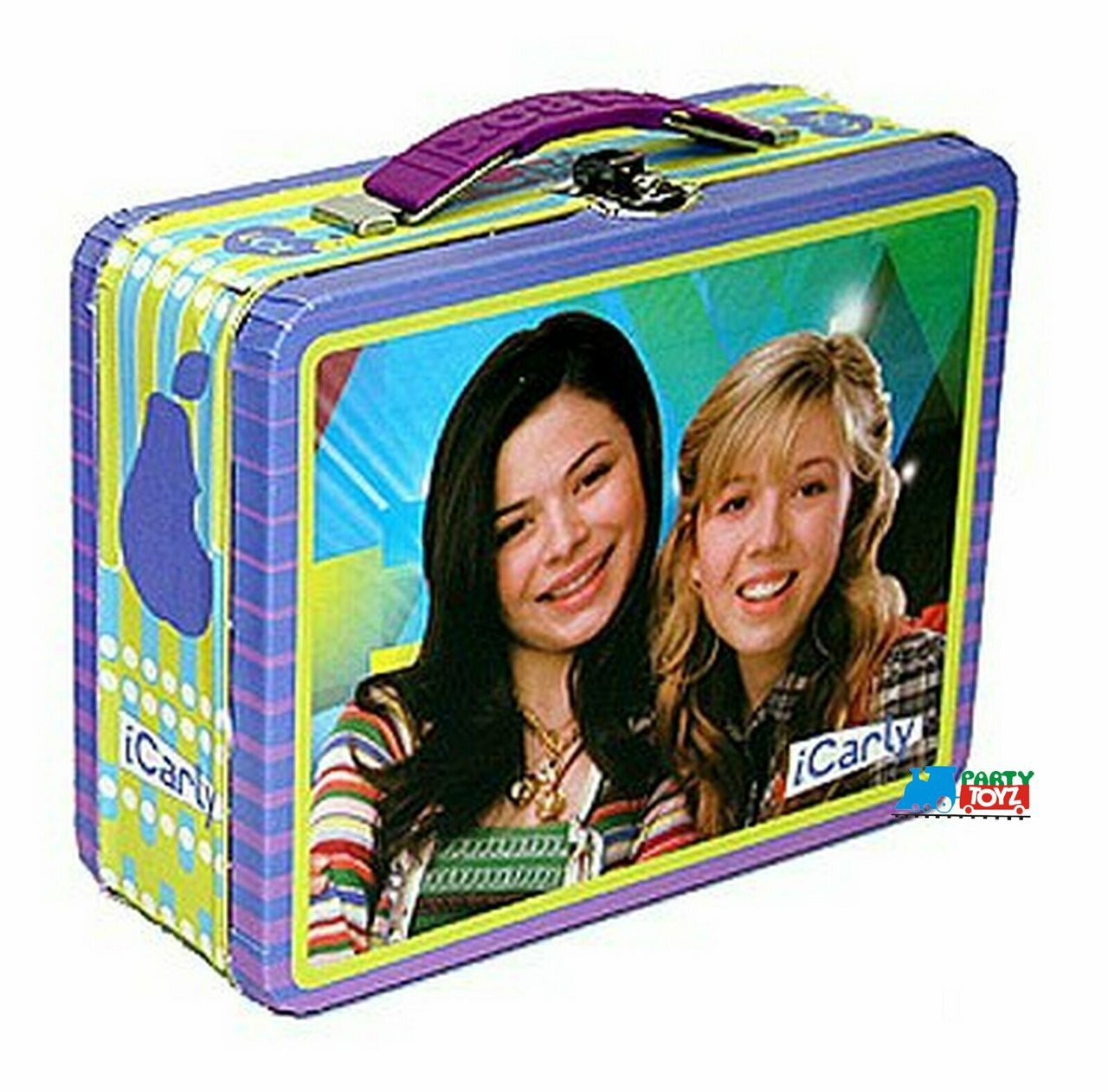 iCarly Square Carry All Tin Stationery Lunch Box - Purple/Green