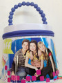 iCarly Round Tote Carry All Tin Box Lunchbox Lunch Box with Zipper - White