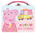"Peppa Pig Square Tin Box - ""Peppa Ice Cream"""