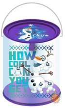 Frozen Clear Paint Canister with Tin Lid - Olaf