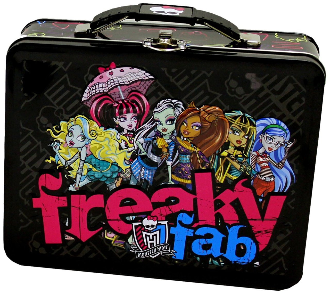 Monster High Square Tin Stationery or Small Lunch Box - Freaky Fab