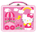 Hello Kitty Square Tin Stationery or Small Lunch Box - Flowers