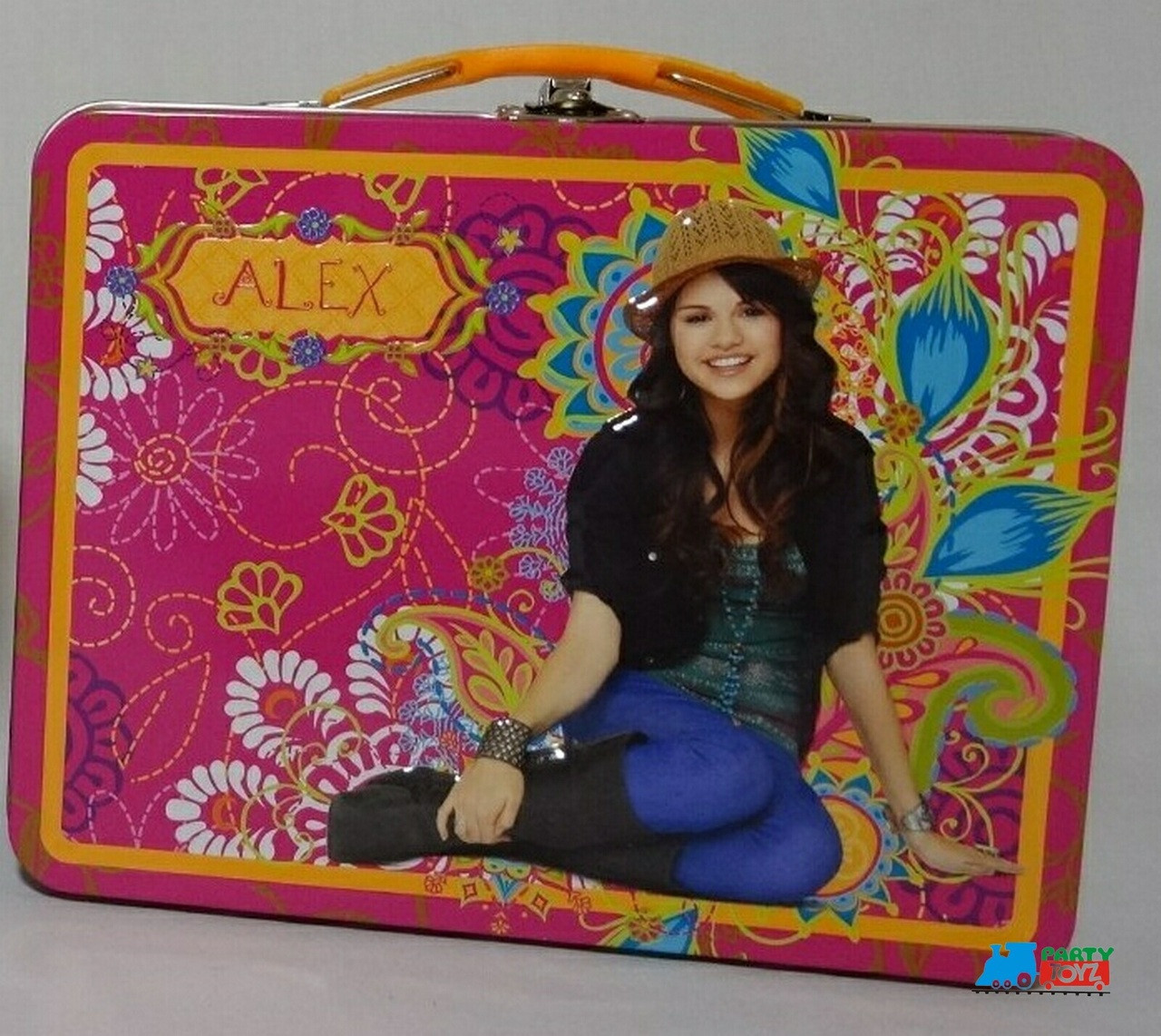 Wizards of Waverly Place Square Carry All Tin Lunchbox Lunch Box - Pink