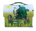 John Deere School Dome Tin Lunchbox - Light Blue