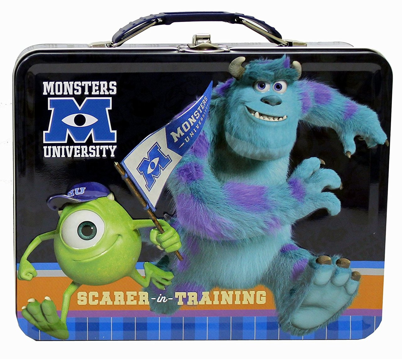 Monsters University Mike and Sully Square Tin Stationery or Small Lunch Box