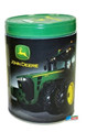 John Deere Rounded Tin Coin Bank - Black