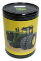 John Deere Rounded Tin Coin Bank - Yellow
