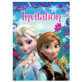 Frozen Princess Anna Queen Elsa Pack of 8 Invitations - Blue