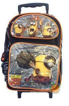 """Minions Movie Large 16"""" Rolling Cloth Backpack - """"Cro Minion"""""""