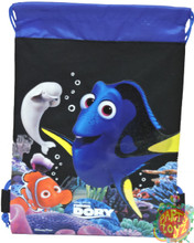 Drawstring Bag - Finding Dory Black Cloth String Bag