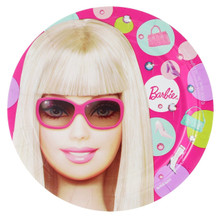 Barbie Small Round 7 Inch Party Cake Dessert Plates