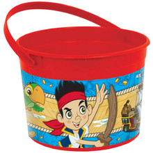 Jake and the Neverland Pirates Plastic Favor Bucket Container ( 1pc )