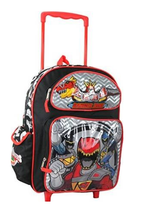 """Power Rangers Dino Charge Large 16"""" Rolling Backpack"""