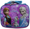 Frozen Ice Princess Anna Elsa Cloth Insulated Lunch Box Case Tote Bag - Purple